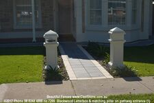 7299  Blackwood Letterbox & Matching Pillar On Pathway Entrance (1)